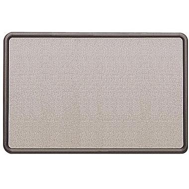 Quartet® – Contour, babillard en tissu, cadre en graphite, 36 po x 24 po