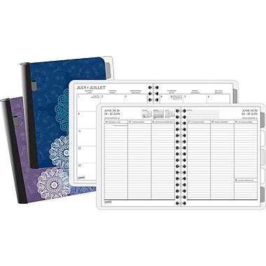2013/2014 Staples® Academic Weekly/Monthly Medallion Planner with Notes,  6 7/8in. x 8 3/4in.