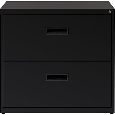 2 Drawer 30in. Wide Lateral File Cabinet, Black