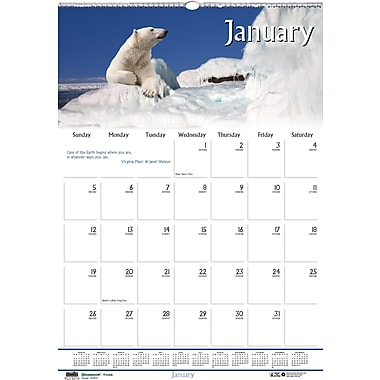 2014 House of Doolittle® Earthscapes™ Wildlife Wall Calendar, 15 1/2in. x 22in.