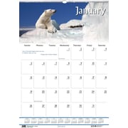 2014 House of Doolittle® Earthscapes™ Wildlife Wall Calendar, 15 1/2 x 22