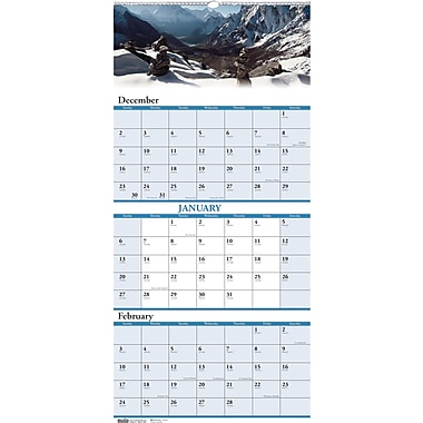 2014 House of Doolittle® Earthscapes™ Scenic 3 Month Wall Calendar, 12 1/4in. x 26in.