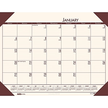 2014 House of Doolittle® EchoTones® Cream Color Desk Pad Calendar, 22in. x 17in.