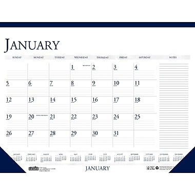 2014 House of Doolittle® Classic Compact 12 Month Desk Pad Calendar with notes, 18 1/2in. x 13in.
