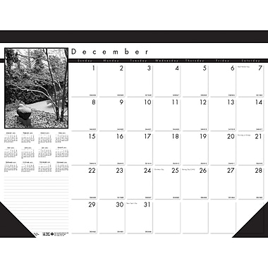 2014 House of Doolittle® Black on White 13 Month Desk Pad Calendar, 22in. x 17in.