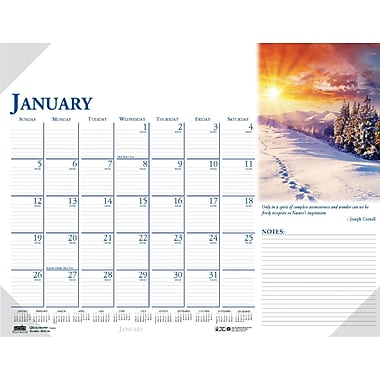 2014 House of Doolittle® Earthscapes™ Scenic Compact Desk Pad Calendar, 18 1/2in. x 13in.in.