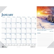 2014 House of Doolittle® Earthscapes™ Scenic Compact Desk Pad Calendar, 18 1/2 x 13