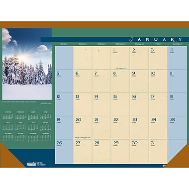 2014 House of Doolittle® Landscapes™  Desk Pad Calendar, 22in. x 17in.