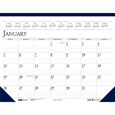 2014 House of Doolittle® 12 Month Desk Pad Calendar, 22in. x 17in.