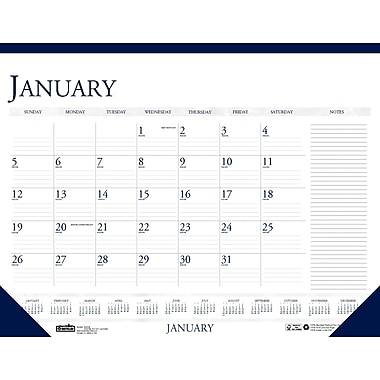 2014 House of Doolittle® Classic 12 Month Desk Pad Calendar with Notes, 22in. x 17in.