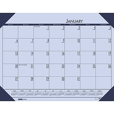2014 House of Doolittle® EchoTones® Orchid Color Desk Pad Calendar, 22in. x 17in.