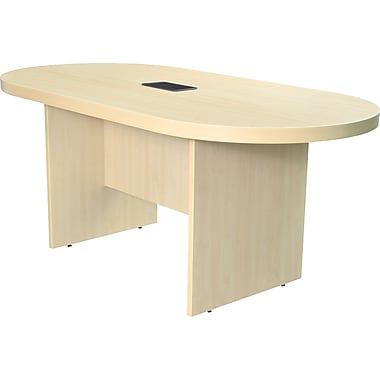 Legacy 71in. Racetrack Conference Table with Power and Data Grommet, Maple