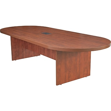 Legacy 120in. Racetrack Conference Table with Power and Data Grommet, Cherry