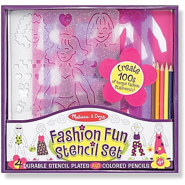 Melissa & Doug Fashion Fun Stencil Set