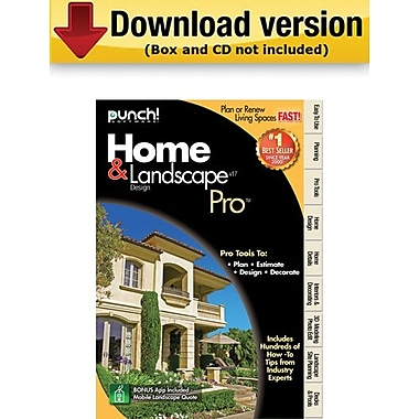 Encore Punch! Home & Landscape Design Pro v17 for Windows (1-User) [Download]