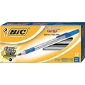 BIC® Ultra Round Stic Grip Ballpoint Pens, Medium Point, Blue, Dozen