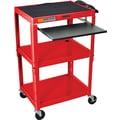 Luxor® Steel Adjustable Height AV Carts W/Pullout Keyboard Tray