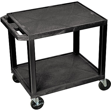 H Wilson® 26in.(H) 2 Shelves Tuffy AV Carts, Black