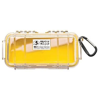 Pelican™ 1030 Micro Case For Small Accessories, Clear/Yellow