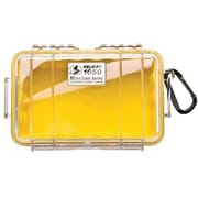 Pelican 1050-027-100 Micro Case for Small Accessories, Clear/Yellow