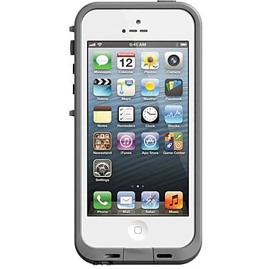 Lifeproof® Fre iPhone Case For iPhone 5, White/Gray