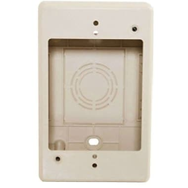 C2G® Tyton Raceway Single Gang Junction Box, Ivory