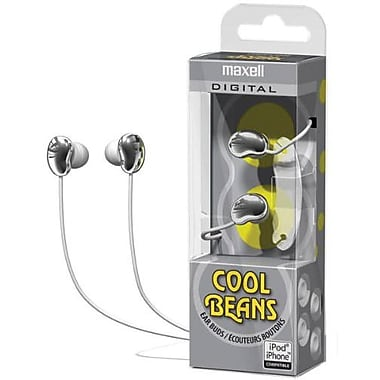 Maxell® 190256 Cool Beans Digital Earphone, Sliver