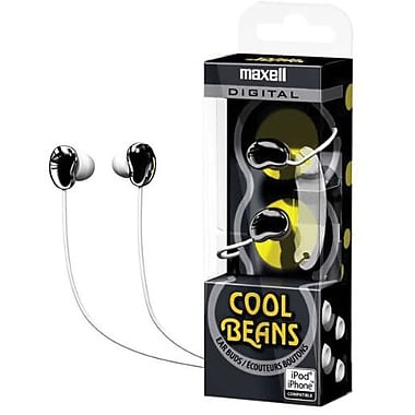Maxell® 190257 Cool Beans Digital Earphone, Black