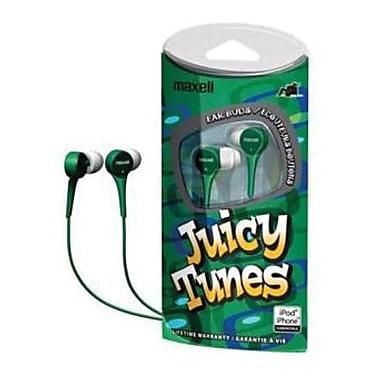 Maxell® 190260 JT Juicy Tunes Earphone, Green