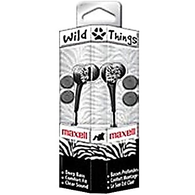 Maxell® 190269 Wild Things Earphone, Black