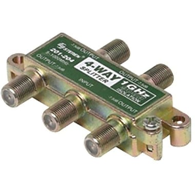 STEREN® 201-204 4-Way RF Splitter