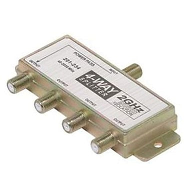 STEREN® 201-234 4-Way Power Pass Satellite Splitter