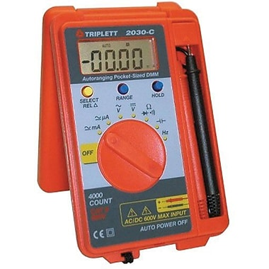 Triplett 2030-c Digital Multimeter With Capacitance and Frequency