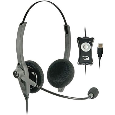 Vxi 203009 Binaural Headset With Noise Cancelling Microphone