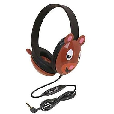 Califone® Ergoguys 2810 Kids Stereo PC Headphone, Bear Design