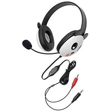 Califone® Ergoguys 2810 Kids Stereo/PC Headphone, Panda Design