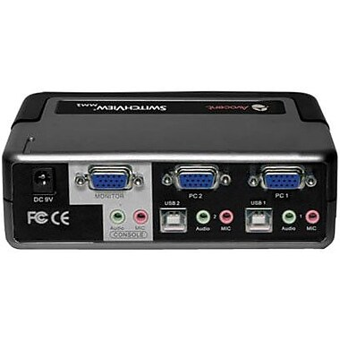 Avocent® Switchview™ 2SVPUA10-001 KVM Switch, 2 Ports