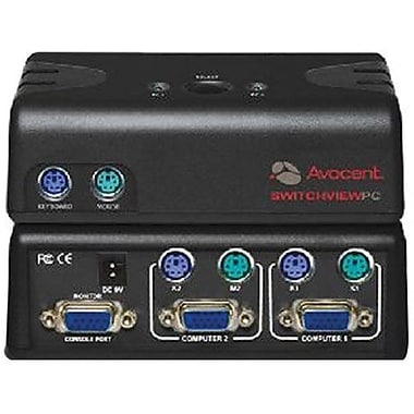 Avocent® Switchview™ 2SVPUA20-001 KVM Switch, 2 Ports
