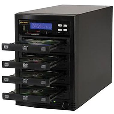 Aleratec™ 310108 Standalone 1:3 CD/DVD Flash Copy Tower Duplicator With Flash Memory Reader