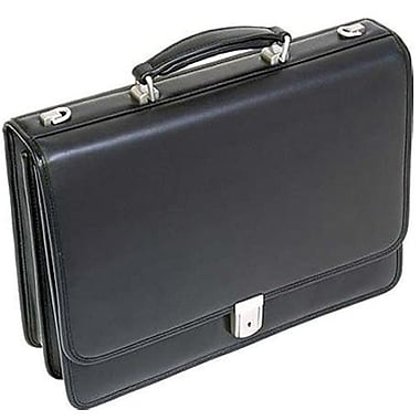 McKlein® Bucktown Series I 17in. Double Compartment Briefcase, Black