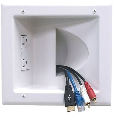 Datacomm™ 45-0041-WH Recessed Low Voltage Media Plate