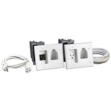 Datacomm™ 50-3323 Flat Panel Cable Organizer Kit With Power Solution
