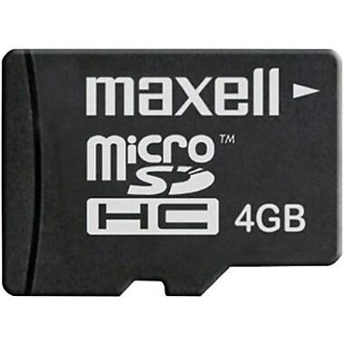 Maxell 502001 MicroSD Flash Memory Card, 4GB
