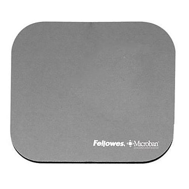 Fellowes® Microban® 0.13in.(D) Nonskid Base Natural Rubber Mouse Pad, Graphite