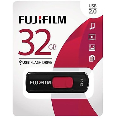 Fujifilm 600012299 USB 2.0 Capless Flash Drive, 32GB
