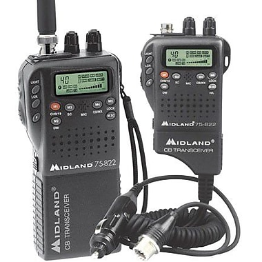 Midland Radio® 75-822 Portable/Mobile CB Radio, 4 W
