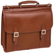 McKlein® Halsted Limited Edition 15.4 Flapover Double Compartment Laptop Case, Brown