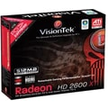 VisionTek® 900183 Radeon HD 2600XT GPU Graphic Card With ATI Chipset, 512MB GDDR3 SDRAM