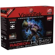 VisionTek® 900311 Radeon 5450 GPU Graphic Card With ATI Chipset, 512MB DDR3 SDRAM