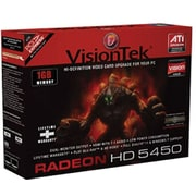 VisionTek® 900320 Radeon 5450 GPU Graphic Card with ATI Chipset, 1GB DDR3 SDRAM